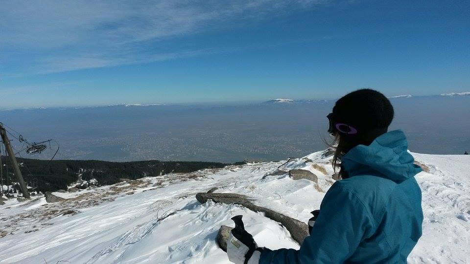 på ski i sofia vitosha mountain