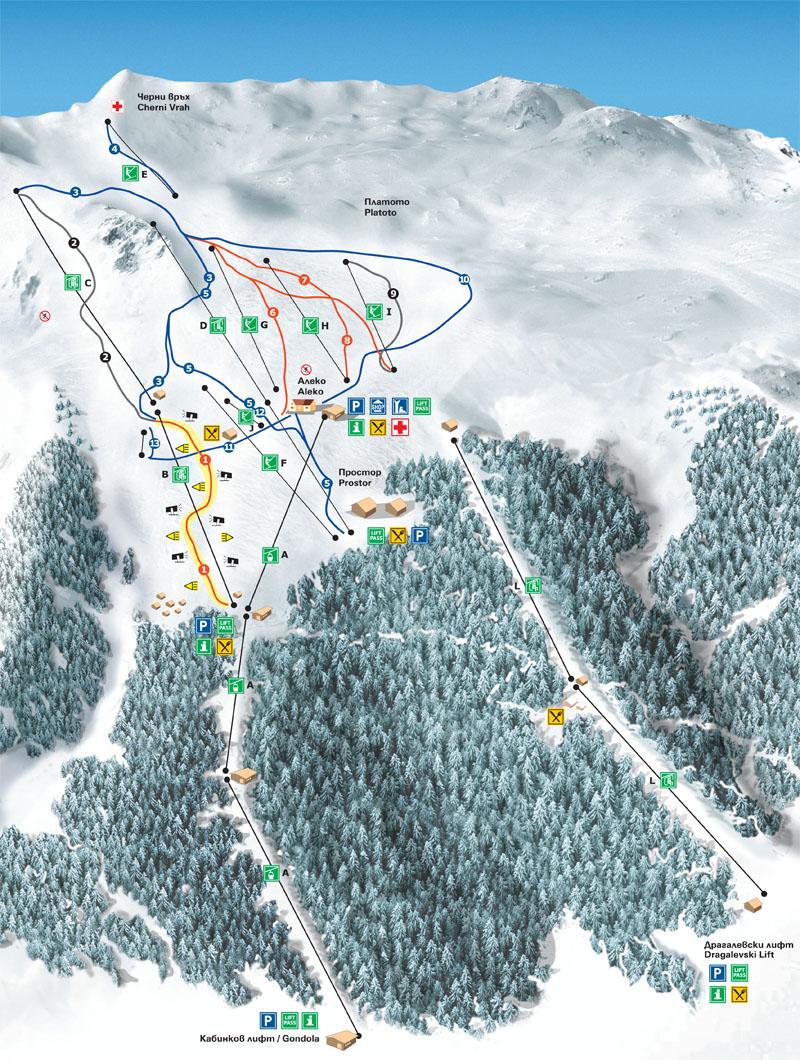 Vitosha Mountain Sofia pistekort
