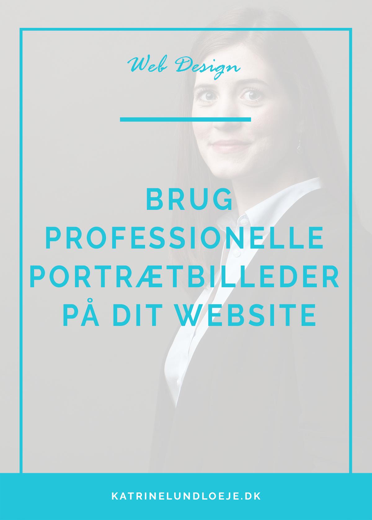 brug professionelle portrætbilleder på dit website