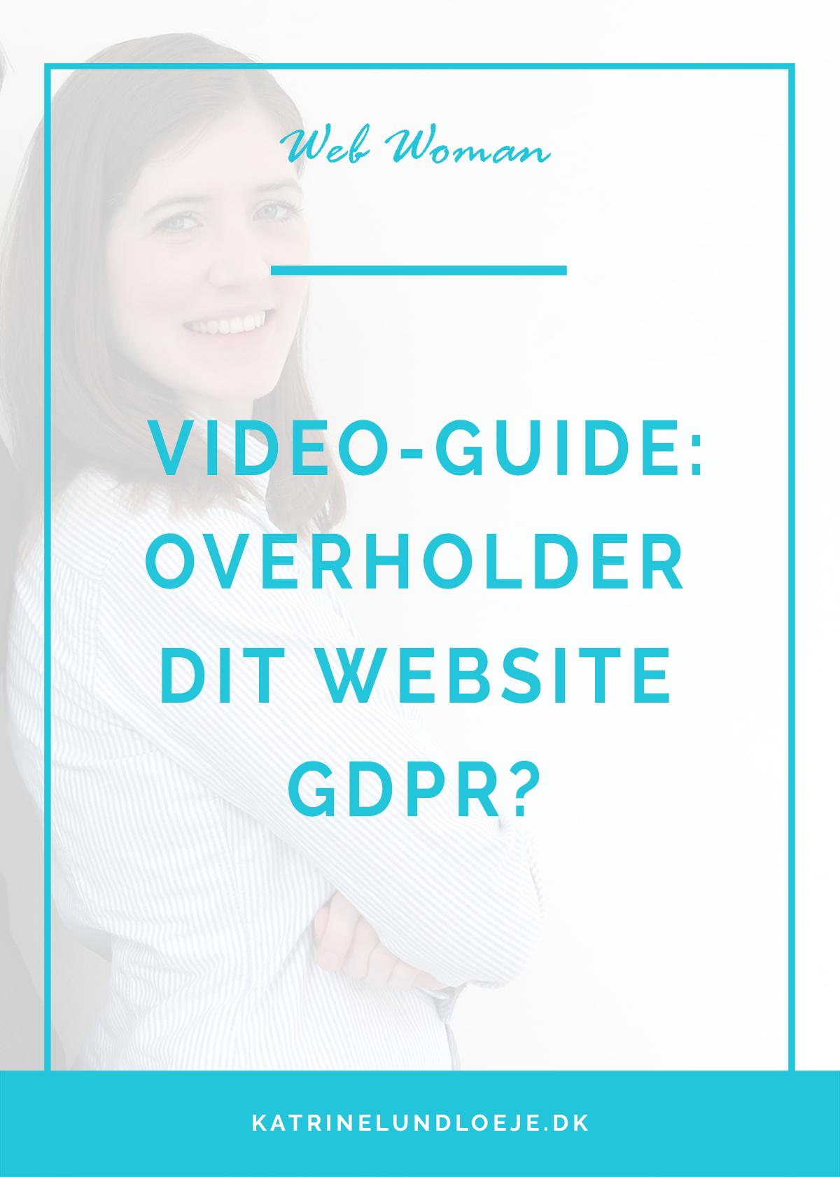 overholder dit website gdpr?