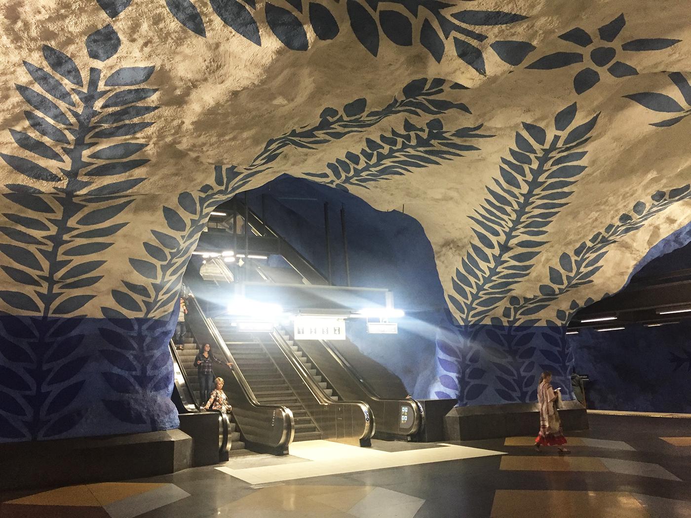 kunst i stockholm tunnelbane metro