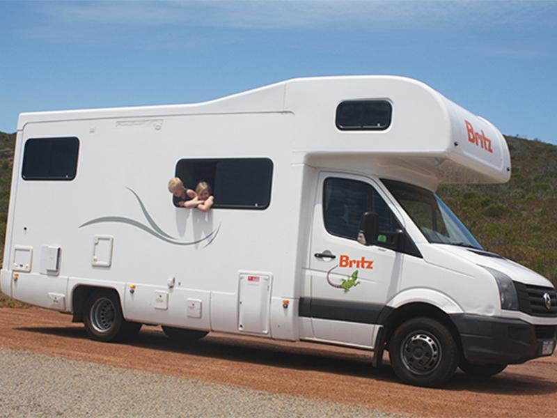 autocamper i australien med børn
