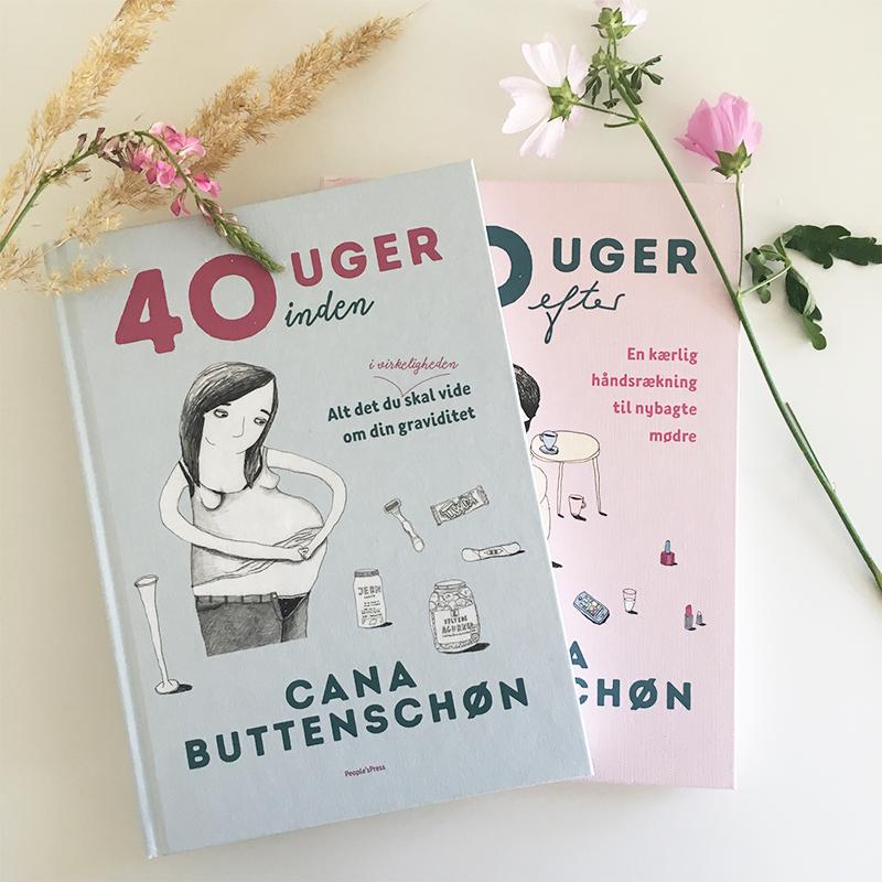 bøger til gravide af cana buttenschøn 40 uger efter og 40 uger inden