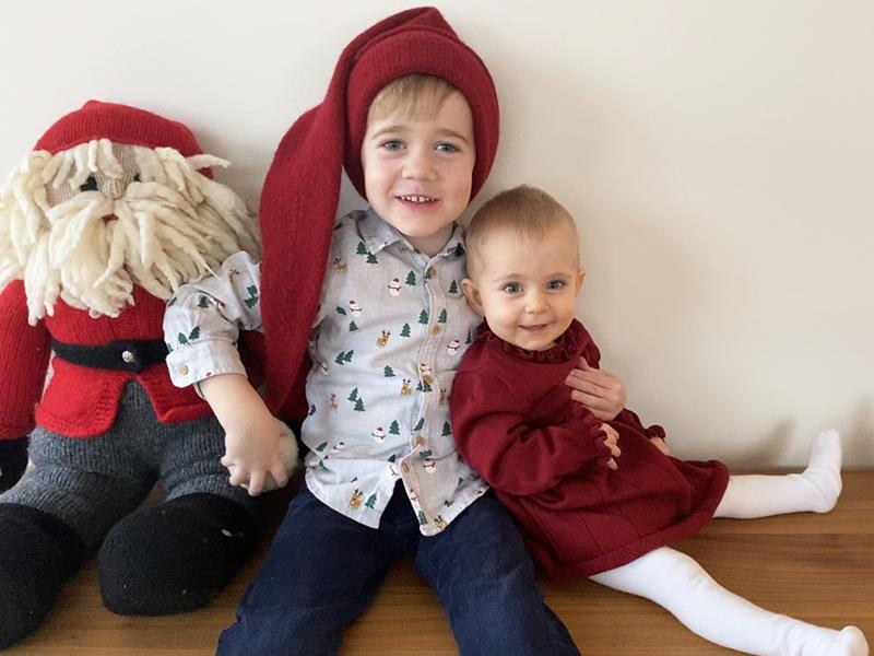 julebillede børn december